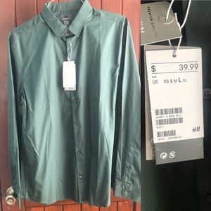 NWT H&M long sleeve button up